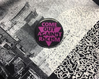 Vintage REMAKE anti racism queer rights button badge BLM black lives matter POC rights gay rights button badge