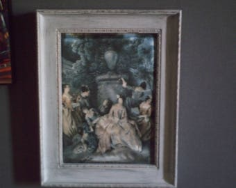 pretty little white distressed frame
