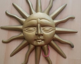 Antique wooden Sun, wall hanging, decoration