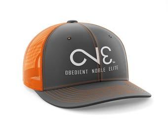 O.N.E. Charcoal Neon Orange Trucker Mesh Back Hat