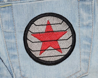 Winter Hero Red Star Soldier Iron-on Embroidered Patch