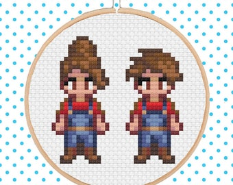 Custom Stardew Valley Character Cross Stitch Pattern DIGITAL