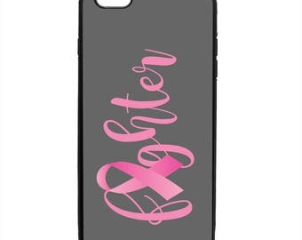 October Breast Cancer Awareness Fighter Phone Case Samsung Galaxy S5 S6 S7 S8 Note Edge Apple iPhone 4 5 5S 5C 6 6S 7 8 X SE Plus snap