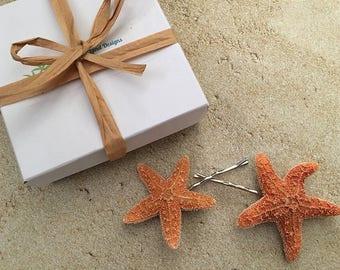 Sugar Starfish Bobby Pins, Set of 2