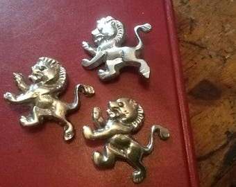 Solid Brass Under Nickle Plated Lions Leathercraft Rivets