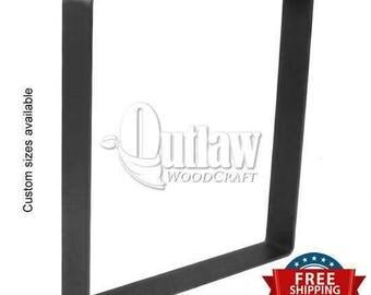"Metal Bench Legs Set of 2 - Flat Bar ""U"" shaped - All Steel Bench Legs | Boho | Industrial | Rustic | Modern | Metal Bench Frame | Bench Leg"