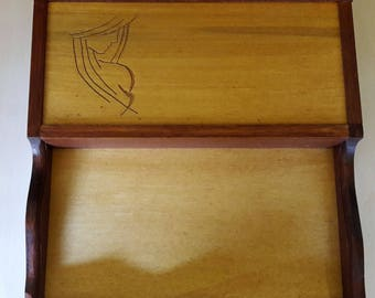 Tray box with engraving