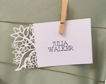 Personalized Place Setting Cards Wedding Reception