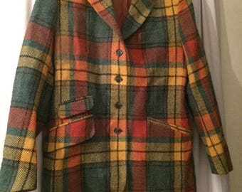 Mixed vintage wool jacket size 42 Galeries Lafayette