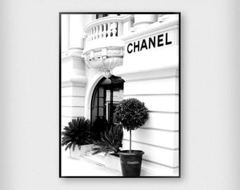 Chanel Store Print | Fashion | Black - White | Photography - Paris - Poster