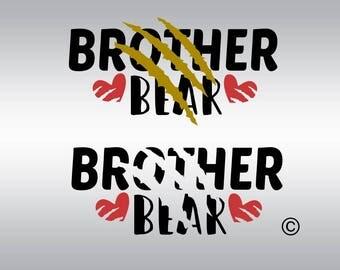 Bear family svg, Brother Bear svg, Brother svg, Bear svg, Bear clipart, SVG Files, Cricut, Cameo, Cut file, Clipart, Svg, DXF, Png, Pdf, Eps