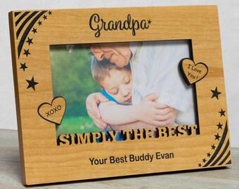 Grandpa Personalized Picture Frame, Grandpa Picture Frame, Gifts for Grandpa, Grandfather Frame, Grandpa Frame, Fathers Day Gift Grandfather