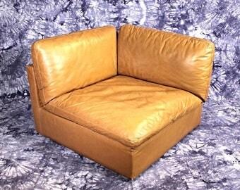 Rare ZANOTTA Italy Lounge Club Corner Chair Armchair Settee Chaise Sofa Loveseat