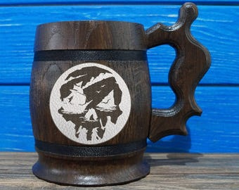 Sea of Thieves Beer Mug, Sea of Thieves Beer Stein, Custom Beer Mug, Gift for Gamer, Sea of Thieves Tankard, Gift for Him