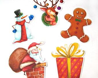 Planner Die Cuts - Christmas Die Cuts - TN Pocket Die Cut - Planner Decoration - Santa - Snowman - Reindeer - Gingerbread Man - Presents