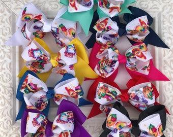 Shopkins hair bow, shopkins bow, cheer bow,