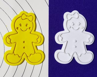 Ribbon Gingerbread Girl Cookie Cutter and Stamp