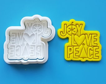 Joy Love Peace Cookie Cutter and Stamp