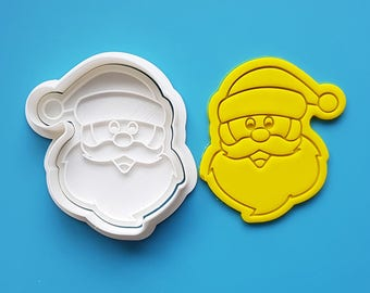 Funny Face Santa Cookie Cutter and Stamp