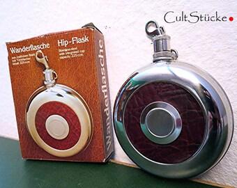 Vintage hiking bottle hip flask flask steel