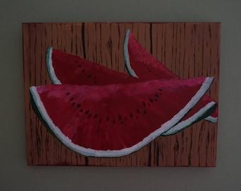 Summery Watermelon painting