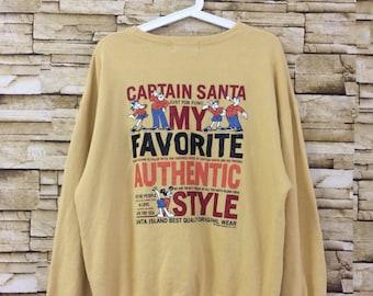 Vintage CAPTAIN SANTA sweatshirt crewneck