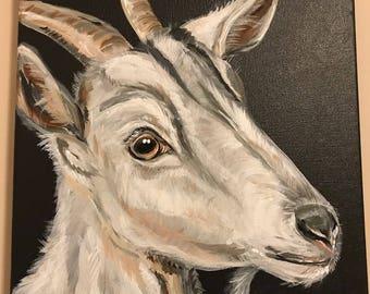 50% to Charity FARM Animal GOAT Original ART