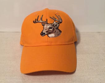 Embroidered Deer Head Cap