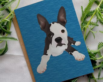 Card - General - Boston terrier puppy