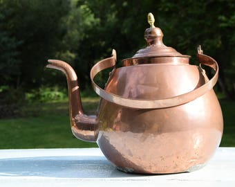 Large copper kettle / Decoration rustic Germany