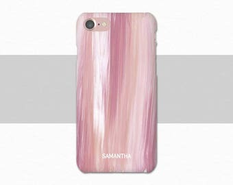 Rose Custom Name iPhone Case, Pink Personalized iPhone 7 Case, iPhone 6 Case Pink, Plus, Personalized iPhone Case, Custom iPhone 6S, 6 Plus