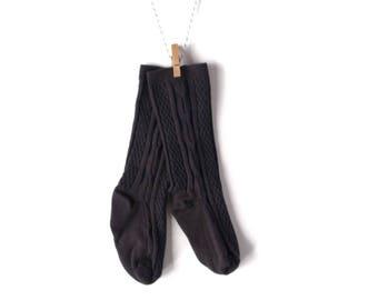 Black Knee-High Stockings/Socks for Baby/Toddler
