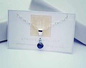 Real Sapphire Pendant 0.18ct in 925 Sterling Silver