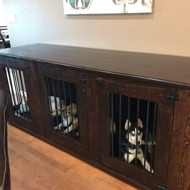 wooden dog crate furniture. Hand Crafted Dog Kennel, Wood Crate, Wooden Crate Furniture L