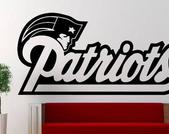 Patriots Logo Sports fan boys room vinyl wall decal wall decor a225