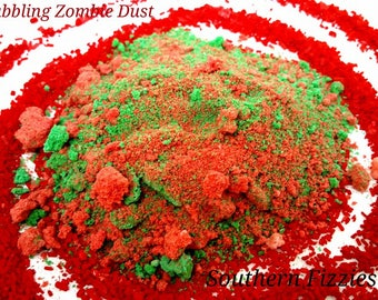 Bubbling Zombie Dust Hand Crafted Halloween Bath Bomb, 3oz, Bath Fizzies, Bubble Bath, Handmade, Artisan, Cruelty Free