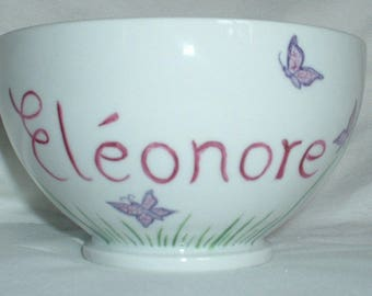 Personalized with name and decorations breakfast Bowl