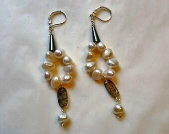 Freshwater Pearl Gemstone Earrings