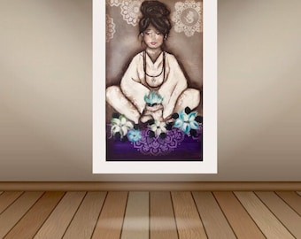 Postage included in price Yoga girl 900mm-600mm
