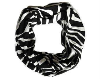 Scarf infinity, Zebra, animal motifs