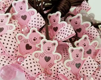 24pcs baby shower Bear pacifiers favors