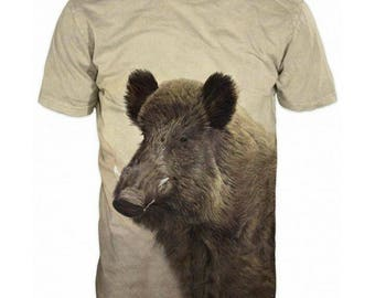 New ultramodern 3D  High Quality  Print Hunting Boar short Sleeve t-shirt