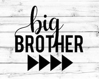 Big Brother SVG - Little Brother Svg, Brother Svg, Brothers Svg, Lil Bro Svg, Sibling Svg, Cricut Svg, Shirt Svg, PNG File, Cut File, Cricut