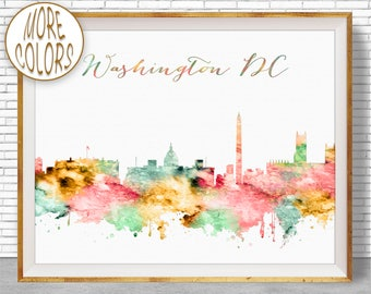 Washington Dc Wall Art washington dc art | etsy