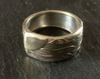 Spoon Ring, Art Nouveau Style
