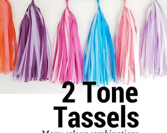 Two tone tassel Garland Kit- multiple colours- choose your own