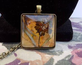 Pressed Flower Blend Necklace
