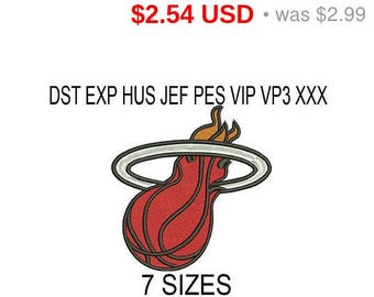 TODAY SALE 15% Miami Heat embroidery design logo / embroidery designs / INSTANT download machine embroidery pattern