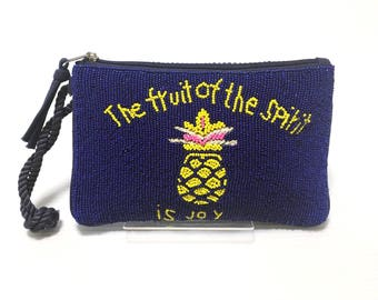 Swaraj Bag pineapple bead 2WAY pouch beads embroidered casual Pochette Bag chain