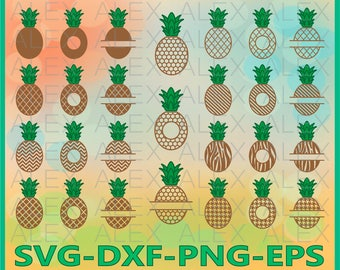 70% OFF, Pineapple SVG, Split Frame Pineapple, Pineapples Svg Files, Dxf,Png,Eps File, Pineapple Monogram SVG, Pineapple Cricut Silhouette